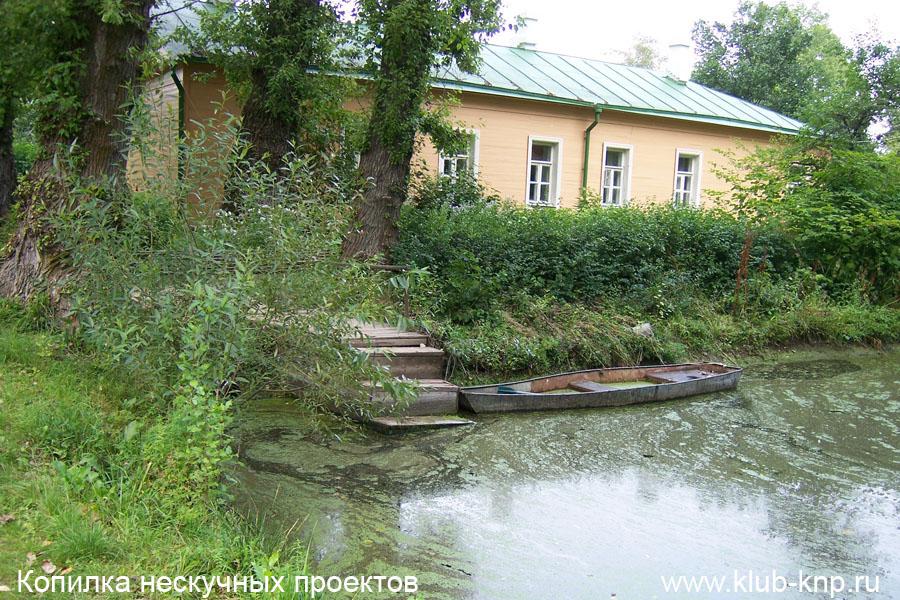Пруд в Мелихово. Вид на дом Чехова