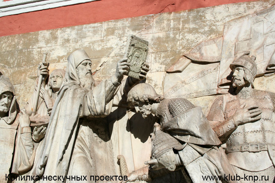 Горельеф в Донском монастыре